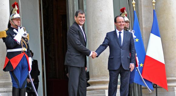 président Correa en France