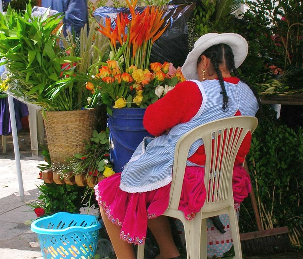 marché aux fleurs-Cuenca-Equateur-2