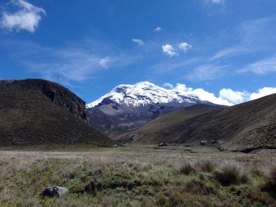 Le volcan Chimborazo depuis la route