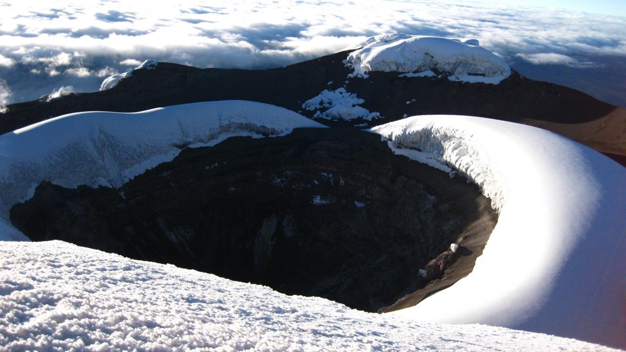 Le cratère du Cotopaxi
