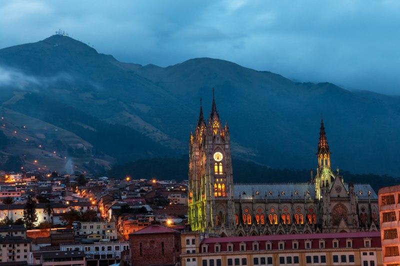 Quito-basilique gothique