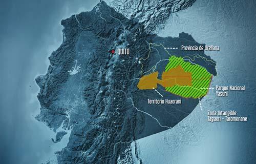 Carte du Yasuni