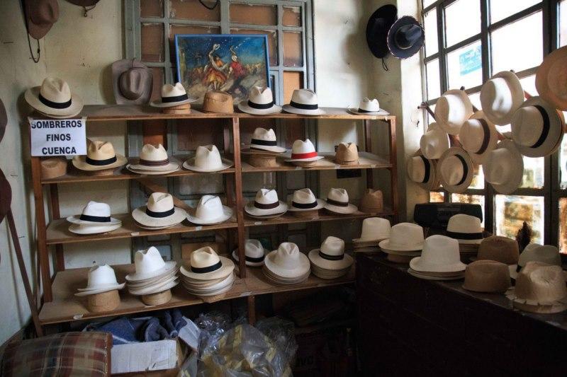 Une boutique de chapeaux à Cuenca